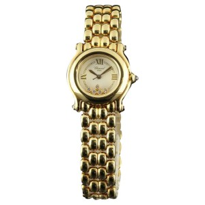 Chopard Happy Sport 5 Floating Diamond 27/6150 Yellow Gold Womens Watch