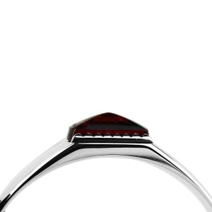 Baccarat Jewelry Louxor Sterling Silver Red Mirror Large Bracelet