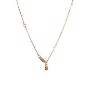 Michael Kors Crystal Pave Matchstick Rose Gold Tone Charm Necklace