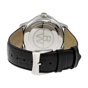 Raymond Weil 5476-ST-00207 Tradition Black Dial Black Leather Band Watch