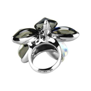 Baccarat Sterling Silver 5 Petals Ring