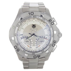Tag Heuer 300M Aquaracer CAF7011.BA0815 Calibre S Silver Dial Men's Watch