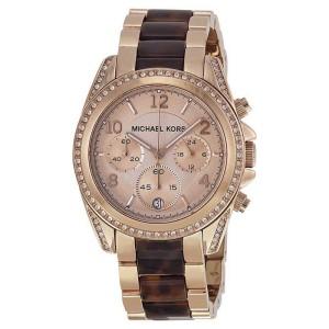 Michael Kors MK5859 Blair Rose Gold Dial Rose Gold Chronograph 39mm Womens Watch