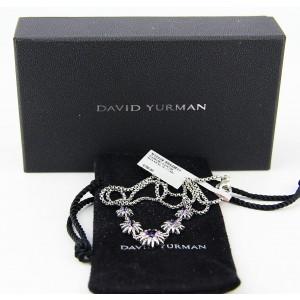David Yurman 925 Sterling Silver Starburst 5 Stations Amethyst Necklace