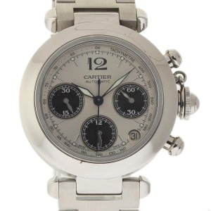 Cartier Pasha C W31048M7 Stainless Steel Automatic Silver Dial 35mm Womens Watch