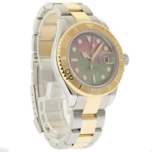 Rolex Yacht Master 16623 Stainless Steel & 18K Yellow Gold Dark Tahitian Mother Of Pearl Dial 40mm Mens Watch