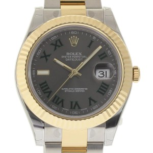 Rolex Datejust II 116333 Stainless Steel / 18K Yellow Gold with Grey Dial 41mm Mens Watch