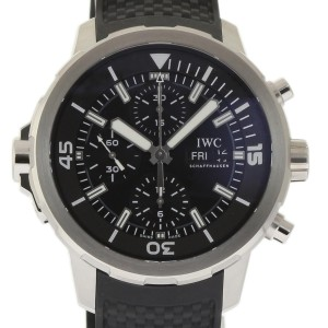IWC Aquatimer IW376803 Stainless Steel Black Dial Automatic 44mm Mens Watch