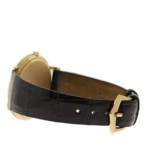 Patek Philippe Calatrava 3744J Yellow Gold Black Leather 33mm Unisex Watch