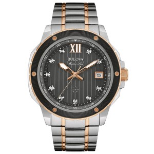 Bulova 98D127 Two Tone Stainless Steel Quartz 47mm Mens Watch