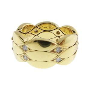 Cartier 18K Yellow Gold with 0.24ct Diamond Ring Size 6.25