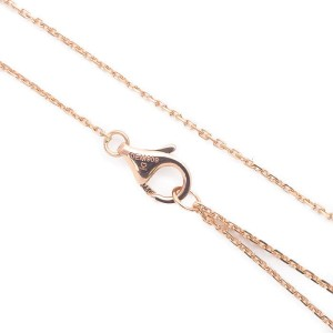 Cartier C de Cartier 18K Rose Gold with 0.23ct. Diamond Pendant Necklace
