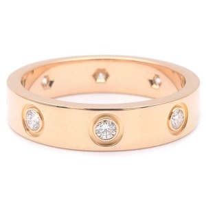 Cartier Mini Love 18K Rose Gold with Diamond Ring Size 4.5