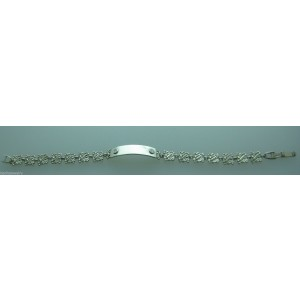LADIES PLATINUM DIAMOND ID BRACELET