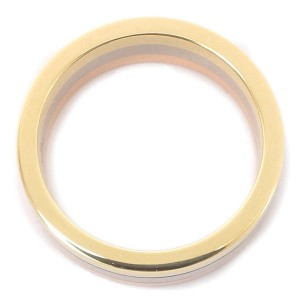 Cartier 18K Yellow, White & Pink Gold Ring Size 4