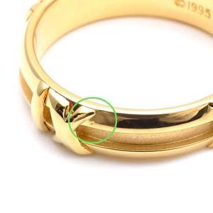 Tiffany & Co. Atlas 18K Yellow Gold Ring Size 5