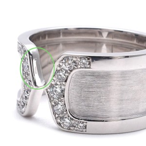 Cartier 18K White Gold with Diamond Ring Size 6