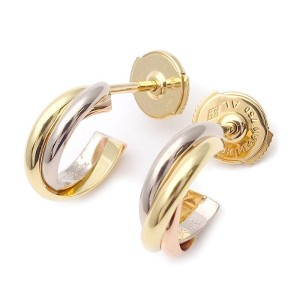 Cartier Trinity 18K Yellow, White and Rose Gold Earrings