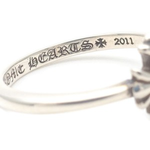 Chrome Hearts 925 Sterling Silver Bubble Gum Ring Size 4