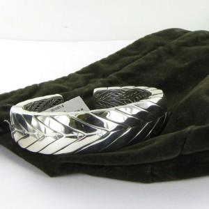 John Hardy Modern Chain Sterling Silver Kick Cuff Bracelet