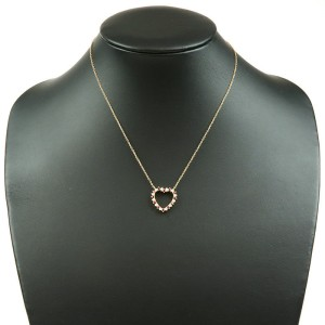 Tiffany & Co. 18K Yellow Gold with Diamond and Ruby Heart Necklace
