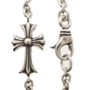 Chrome Hearts 925 Sterling Silver Small Cross Bracelet