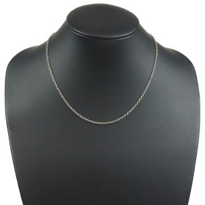 Chrome Hearts 925 Sterling Silver Roll Chain Necklace