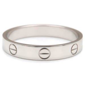 Cartier Mini Love Ring 18K White Gold Size 9