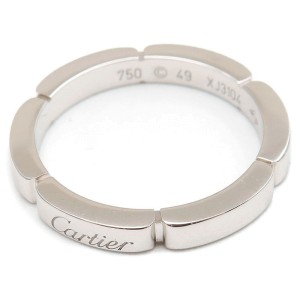 Cartier Maillon Panthere Ring 18K White Gold Size 4.75
