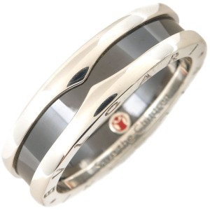 Bulgari B-Zero 1 925 Sterling Silver & Ceramic Save the Children Charity Ring Size 11.75