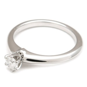 Tiffany & Co. PT950 Platinum with 0.19ct Solitaire Diamond Ring Size 6