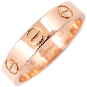 Cartier Mini Love Ring 18K Rose Gold Size 4.75