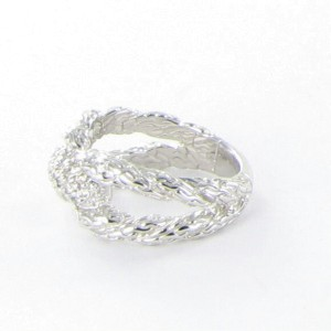 John Hardy Classic Chain 925 Sterling Silver with 0.25cts Diamond Ring Size 7