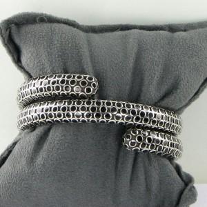 John Hardy Dot 925 Sterling Silver with Black Enamel Bracelet
