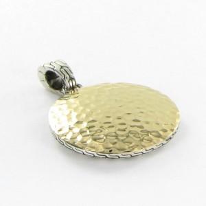 John Hardy Palu Dot 18K Yellow Gold and 925 Sterling Silver Hammered Medium Pendant