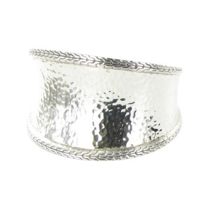 John Hardy Classic Chain 925 Sterling Silver Hammered Cuff Bracelet