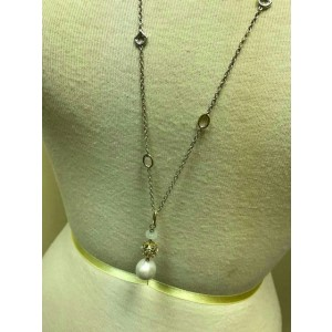 John Hardy Naga Legends 18K Yellow Gold and Sterling Silver with Cultured Pearl Pendant Necklace