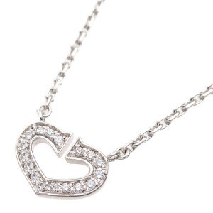 Cartier C Heart Necklace 18K White Gold & Diamond