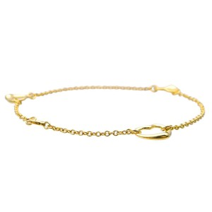 Tiffany & Co. Open Heart 18K Yellow Gold Bracelet
