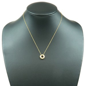Tiffany & Co. Dots Circle Diamond 18K Yellow Gold Necklace