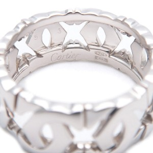 Cartier Entrelace 18K White Gold Ring Size 6.5