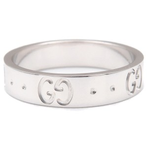 Gucci 18K White Gold Ring Size 4