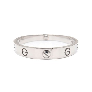 Cartier Love Bracelet 18K White Gold Size 17