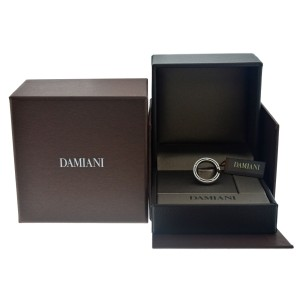 Damiani 18K White Gold Diamond Brad Pitt Ring
