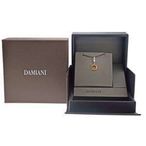 Damiani 20031628 18K White & Rose Gold Diamond Snake Pendant
