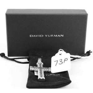 DAVID YURMAN AMAZING SILVER 52 mm CHEVRON CROSS COLOR CHANGING GARNET
