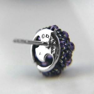 David Yurman Sterling Silver Amethyst Earrings
