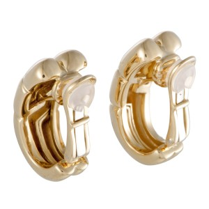 Bulgari 18K Yellow Gold Clip-on Earrings
