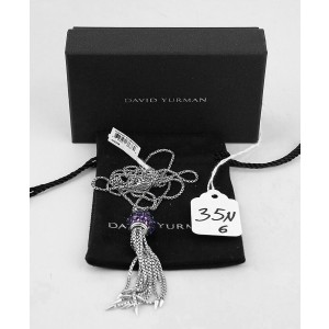 DAVID YURMAN ST. SILVER CABLE OSETRA BERRIES AMETHYST 12 mm NECKLACE