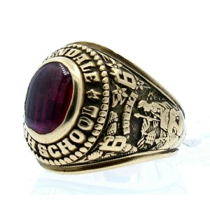10K YELLOW GOLD GLENDALE HIGH 1966 CLASS RING 15.9 GRAMS SIZE 8.5